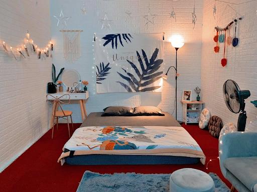 Decor phòng ngủ nhỏ màu sắc tươi sáng