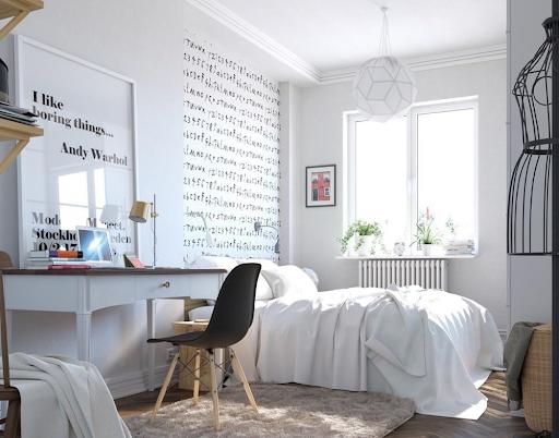 Decor phòng ngủ nhỏ với ánh sáng hợp lý